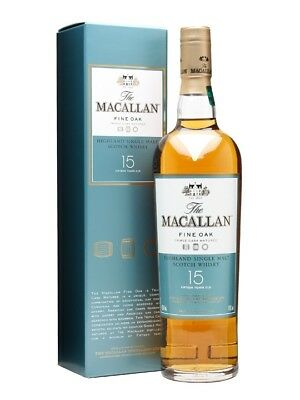 Macallan 15 Year Old Fine Oak Single Malt Scotch Whisky 700ml