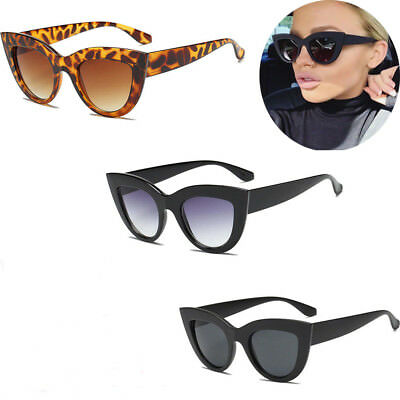 Luxury Ladies Womens Oversized Cat Eye Sunglasses Vintage Style Retro Shades PQ