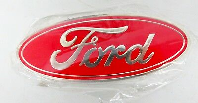 AS NEW 115mm X 46mm RED FORD BADGE - GS85