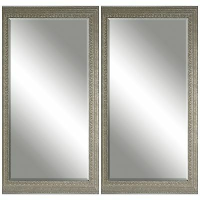 """Two New Large 69"""" Antiqued Finished Frame Beveled Modern Or Vintage Wall Mirror"""