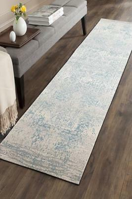 Hallway Runner Hall Runner Rug Modern Light Blue 4 Metres Long Premium Edith 253