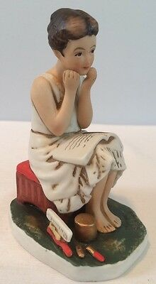 Norman Rockwell NR4 The Daydreamer Figurine By Dave Grossman Designs 1973 Japan