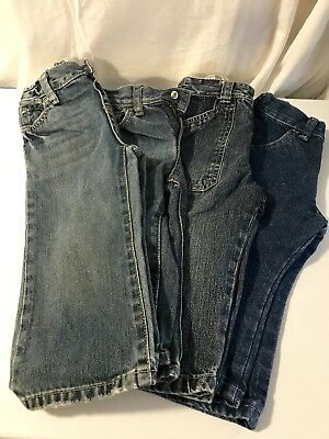 Lot Of 4 Toddler Boys Size 12-18-24 Months Jeans The Children's Place/Gymboree