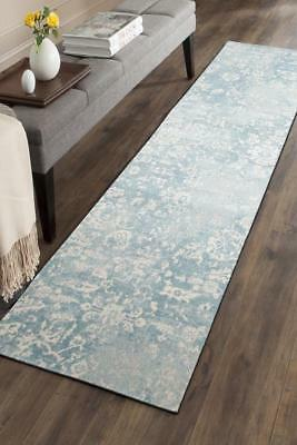 Hallway Runner Hall Runner Rug Modern Light Blue 4 Metres Long Premium Edith 264