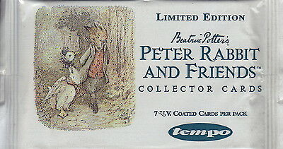 BEATRIX POTTER - Peter Rabbit & Friends Collector Card Packs (7) by Tempo #NEW