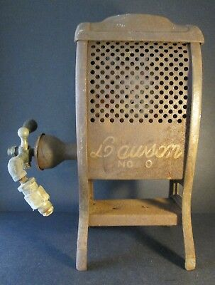Antique LAWSON HEATER No. 0 PATENT DATE 1918 ~ Cast Iron ~ Lovely Rusty Patina!