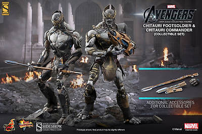 AVENGERS - Chitauri Footsoldier & Commander 1/6th Scale Figure Set (Hot Toys)