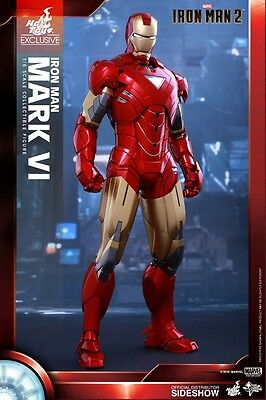 IRON MAN 2 - Iron Man Mark VI 1/6th Scale Action Figure (Hot Toys) ~ MMS339 #NEW