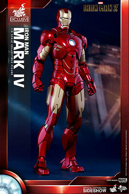 IRON MAN 2 - Iron Man Mark IV 1/6th Scale Action Figure MMS338 (Hot Toys) #NEW