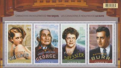 Canada 2008 Souvenir Sheet #2279 Canadians in Hollywood: The Sequel - MNH