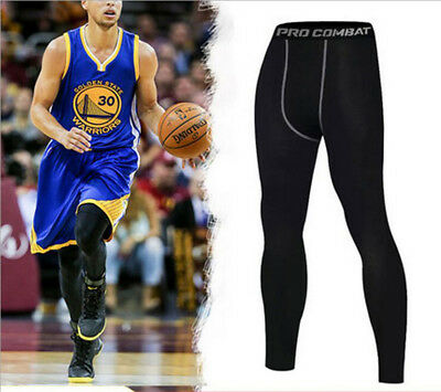 New Men's Athletic Compression Long Pants Sports Base Layer Running Tights