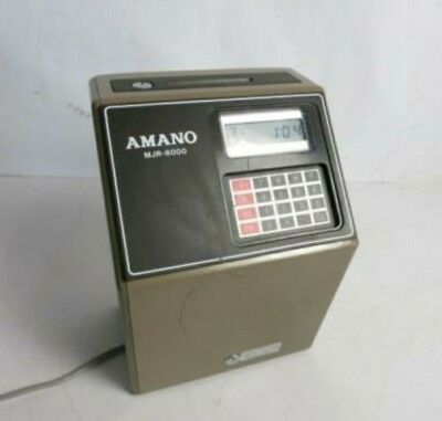 Amano MJR 8000 Time Clock Punch Card Machine- Great Condition.