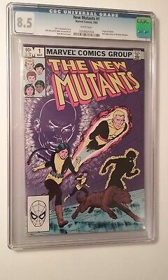 The New Mutants #1 CGC 8.5 VF+ Origin of Karma-2nd App New Mutants WHITE Pages