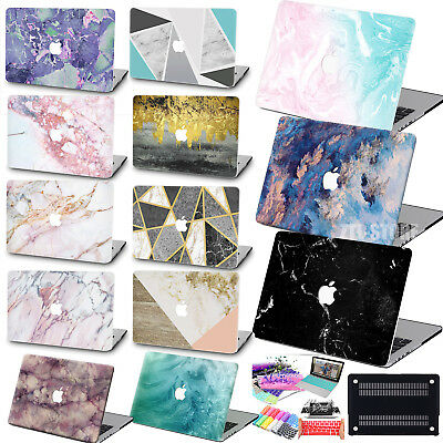 "Fancy Marble Matt Rubberized Printed Hard Case Cover Fr Macbook Air Pro 11""13""15"