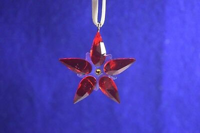 Swarovski Crystal Christmas Poinsettia Ornament Small - #0905212