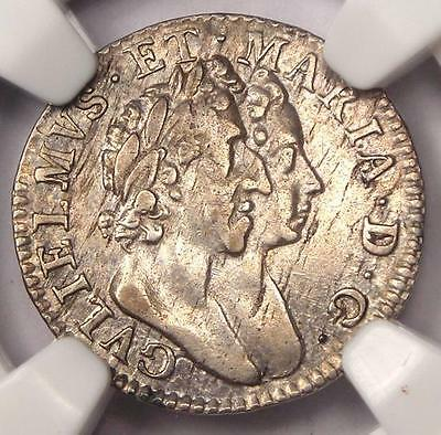 1689 England Threepence Coin 3P ESC-1987 - Certified NGC XF Details (EF)