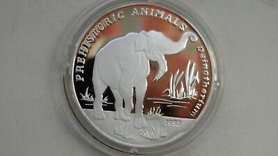 1993 Afghanistan 500 Afghanis Deinotherium Silver Proof coin