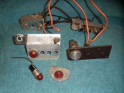 Vintage 1930S 1940S Switches & Lights Togle Ford Chevy Dodge Hot Rod Truck Car
