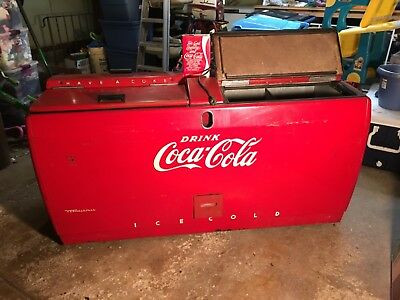 Original 1950s Coca Cola Westinghouse WD-20 Cooler, Coke Advertising, Vintage
