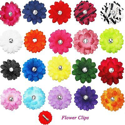 "20pcs 2""  Daisy Flower Alligator Hair Clips Pin for Baby Girls Kids or Craft Diy"