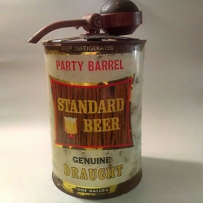 Standard Beer Party Barrel Antique Keg 1950s Rochester New York Brewery Vintage