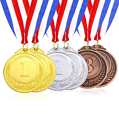 Olympic Style Winner Medals Caydo 6 Pieces Gold Silver Bronze Award Medals Set