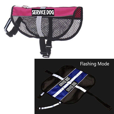 Reflective Service Dog Training Mesh Harness Pet Safety Vest & Removable Patches