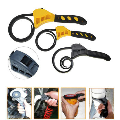New Adjustable Bottle Opener Rubber Strap Wrench Oil Filter Spanner Repair Tools