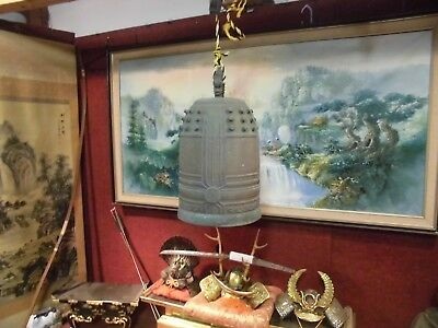 Japanese Temple Bell Bronze Buddhist  Wow Bell!!!!    Check Out The Video