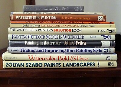 *Lot of Vintage Art Books* Paint Painting Drawing Oil Watercolor Acrylic Artist