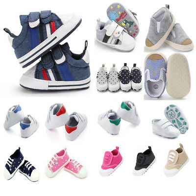 Casual Toddler Baby Shoes Boys Girls Infant Crib Soft Sole Shoe Canvas Sneakers