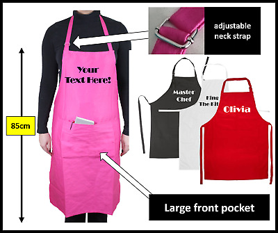 Personalised apron twin pocket custom printed chef cooking catering birthday