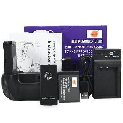 DSTE EOS 800D Remote Battery Grip for CANON EOS 800D X9i + LP-E17 + USB Charger