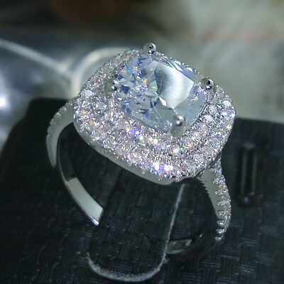 4ct 5A Zircon stone 925 sterling silver Ring