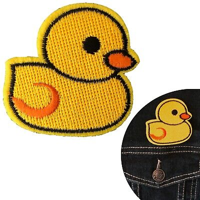 Duck Iron on patch Squeaky Yellow Rubber Duck Duckling bath tub transfer patches