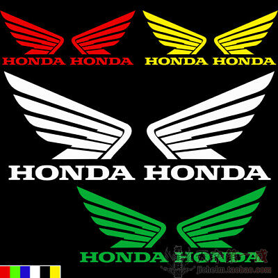 Motorcycle Emblem Decal For Wing Honda Fuel Tank Badge Auto Car Body Stickers