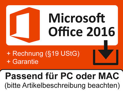 MS Microsoft Office 2016 Home and Student PC | Business MAC | Professional Plus