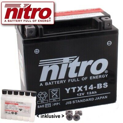 Batterie Suzuki AN650 Z Burgman Executive BU Bj. 2013 Nitro YTX14-BS