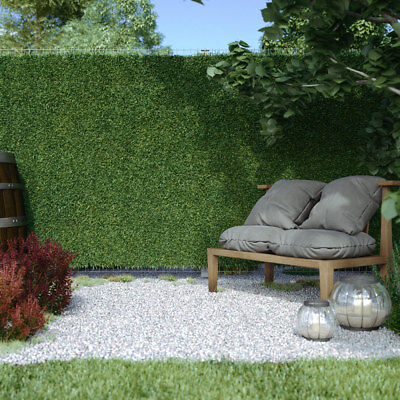 Artificial Ivy Grass Hedge Screening Privacy Screen Garden Fence Panels 3m long