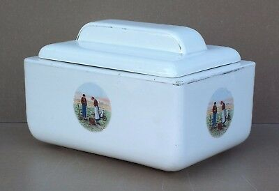 Beurrier DIGOIN personnages ancien vintage table cuisine french butter dish