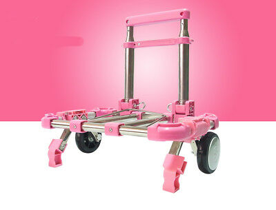 D49 Rugged Aluminium Luggage Trolley Hand Truck Folding Foldable Shopping Cart
