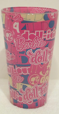 Barbie 16 Ounce Glass New