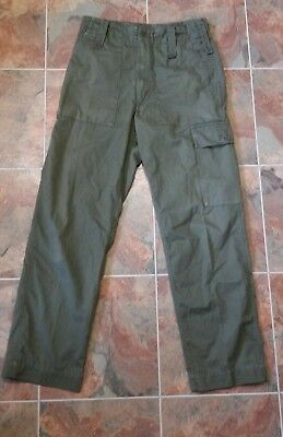 Good Used British Army Issue Olive Green Lightweight Combat Trousers W78cm Leg86