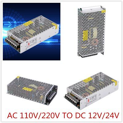 AC 240V To DC 24V 12V LED Strip Transformer Switcher Adapter Power Supply New F