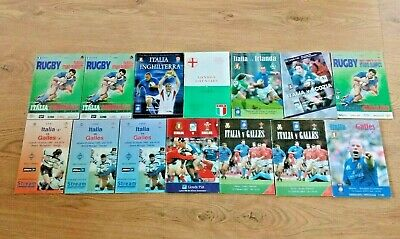 Italy Rugby Union Programmes 1955 - 2007