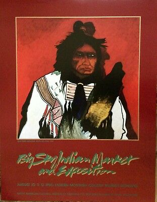 Vintage Poster by Montana Crow artist Kevin Red Star, New Condition