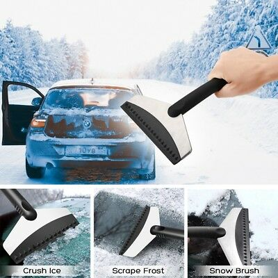 Ice Snow Scraper Car Frost Clean Window Removal Brush Windshield Brass Blade,