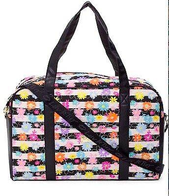 NWT $88 GENUINE  Luv Betsey Johnson LARGE Floral Quilted Cotton Weekender Bag