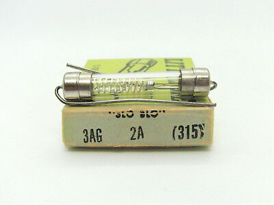 3//8A 3x 5x15MM 2AG Fast-Acting Fuse 250V Littelfuse 224.375 *NOS*