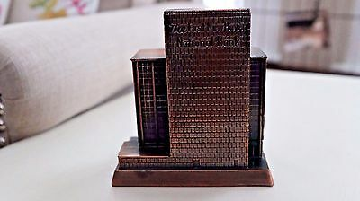 Vintage Metal Building Bank The First New Haven National Bank CT